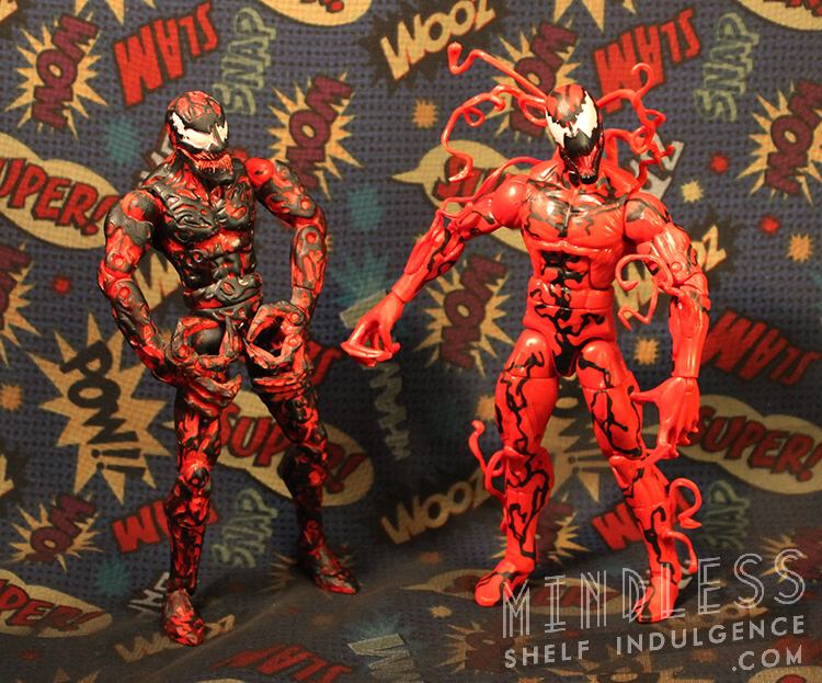 Spider-Man Classics (2004) & Marvel Legends (2014) Carnage