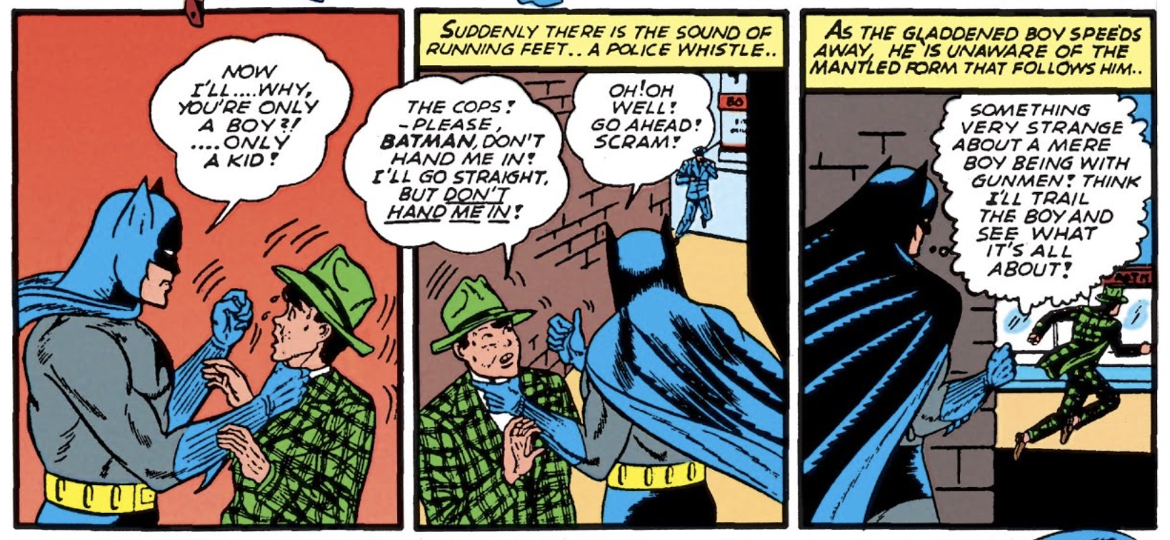 Batman scares children