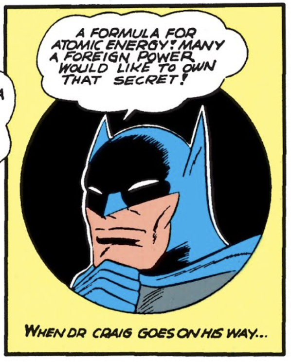 Batman thinks about atomic energy