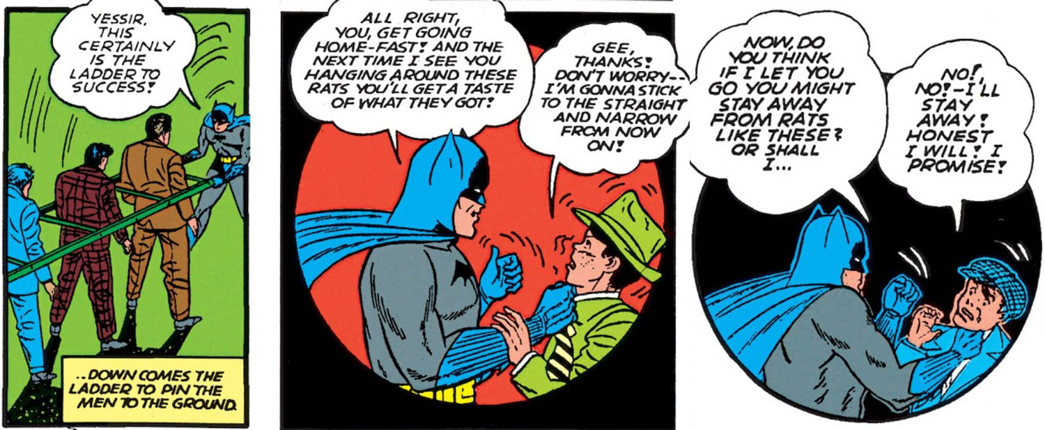Batman threatens children