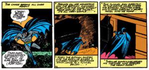 Batman in a secret tunnel