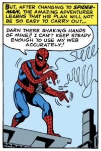 Spider-Man has shaky hands