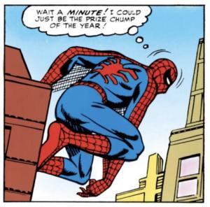 Spider-Man the prize chimp
