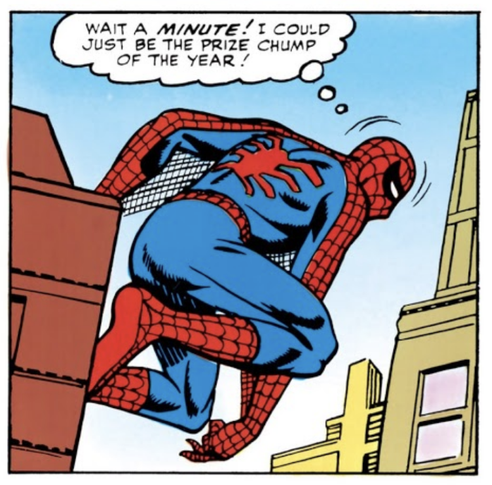 Spider-Man the prize chump